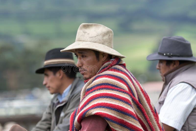 Plan rapproché des cowboys en Equateur images stock