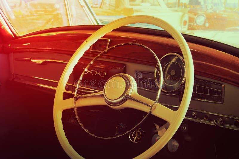 Plan rapproché des détails des voitures de vintage photographie stock libre de droits
