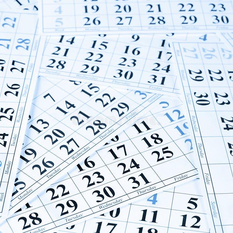 Plan rapproché des dates à la page de calendrier photographie stock libre de droits