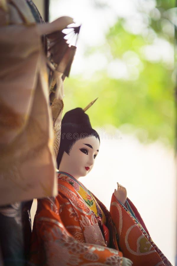 Plan rapproché des poupées japonaises photo libre de droits