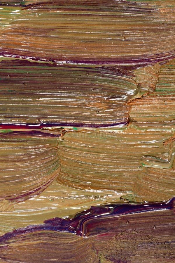 Plan rapproché des traçages de l'oilpainting images stock