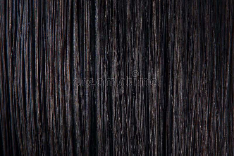 Plan rapproché droit de cheveux noirs image libre de droits