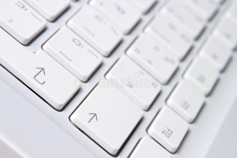 Plan rapproché du clavier blanc photographie stock libre de droits