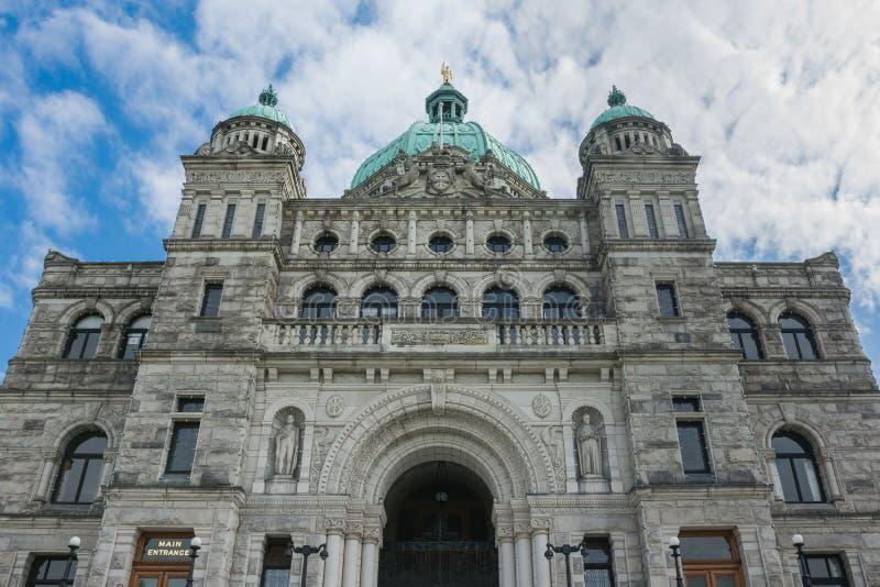 Plan rapproché du dôme de législature de la Colombie-Britannique situé à Vict photos libres de droits