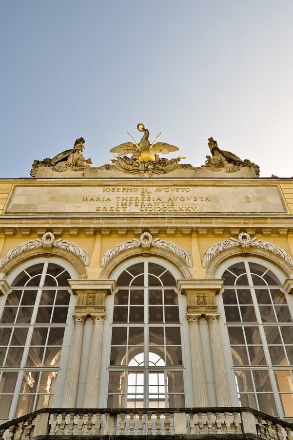 Plan rapproché du gloriette à Vienne photo libre de droits