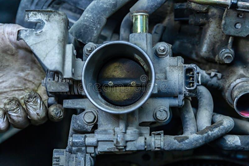 Plan rapproché du moteur, commande de puissance, raditor photo stock