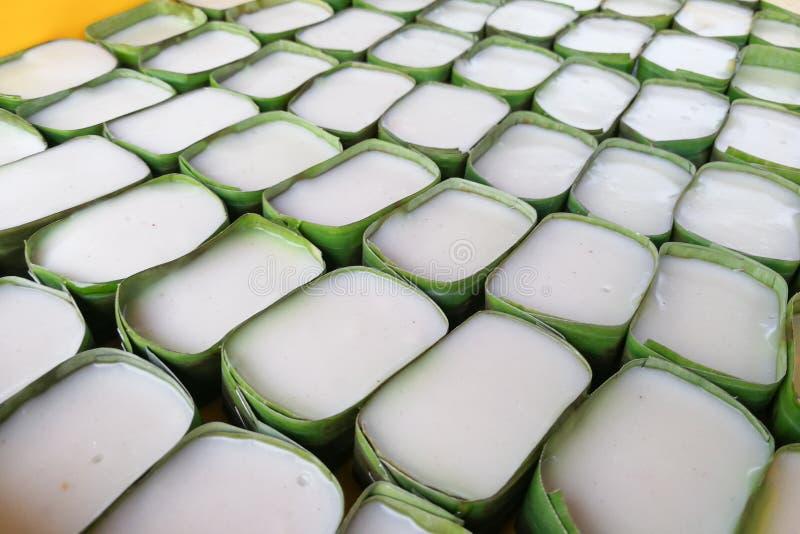 Plan rapproché du pelita de tepung, dessert doux populaire en Malaisie images libres de droits