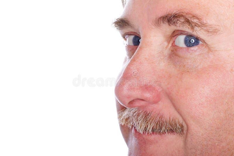 Plan rapproché du visage d'un homme photographie stock