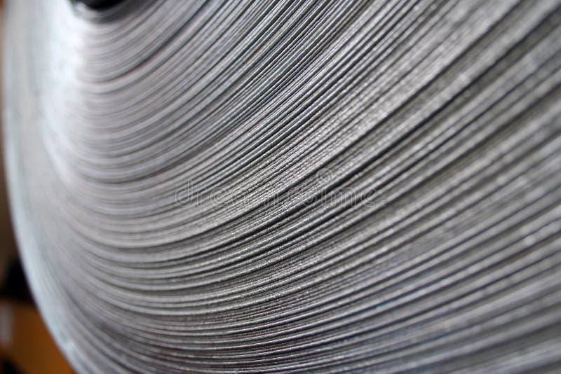 Plan rapproché en acier de bobine photographie stock