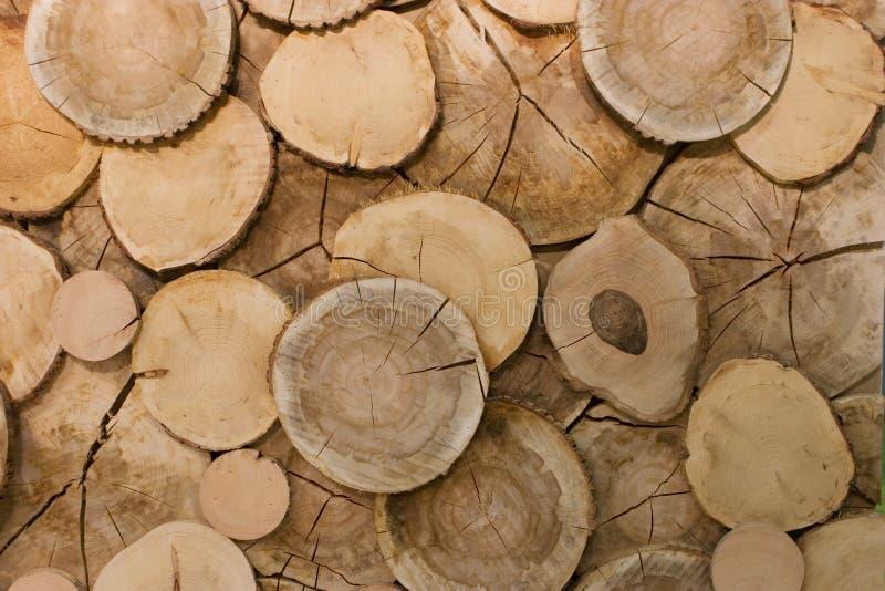 Plan rapproché en bois abstrait de fond de logarithme naturel images stock