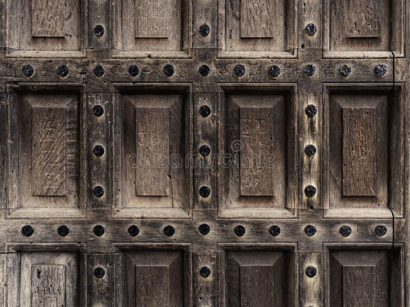 Plan rapproché en bois antique de trappe image stock