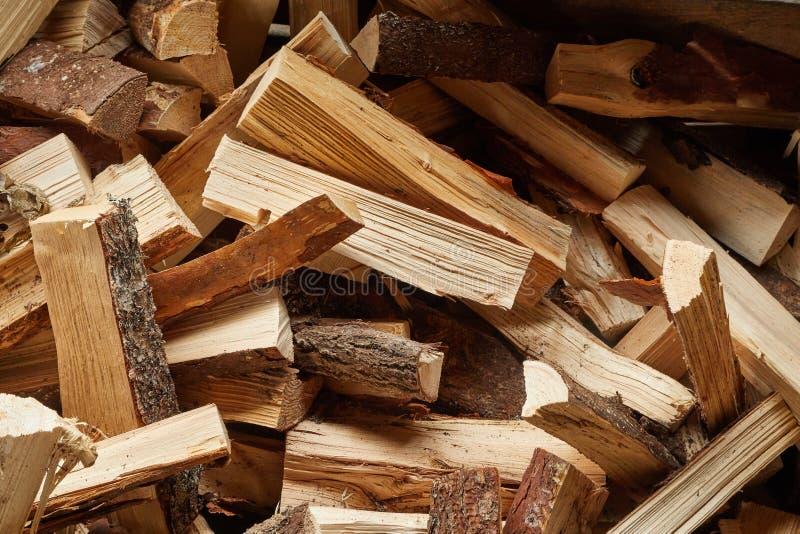 Plan rapproché en bois de pile images libres de droits