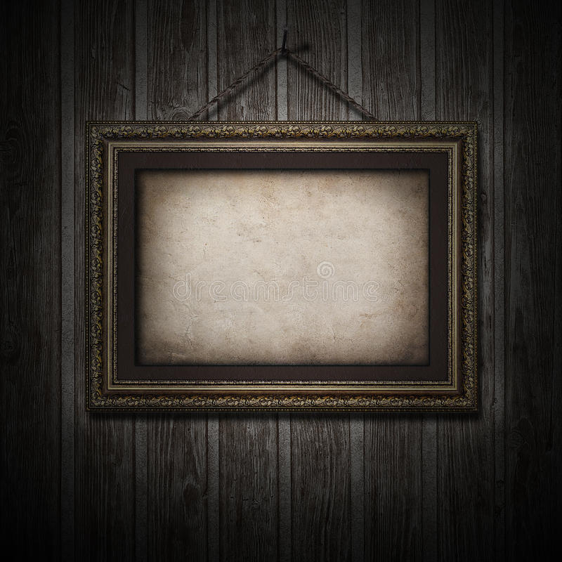 Plan rapproché et cadre en bois de texture de vieux vintage photo libre de droits