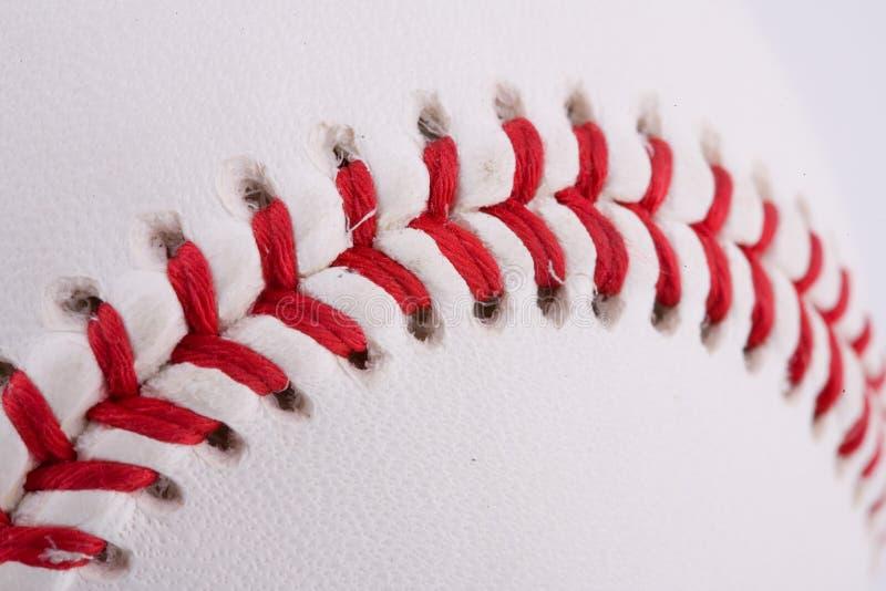 Plan rapproché extrême de base-ball photo stock