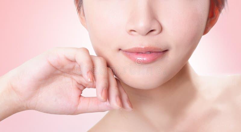 Plan rapproché femelle de languettes photos stock