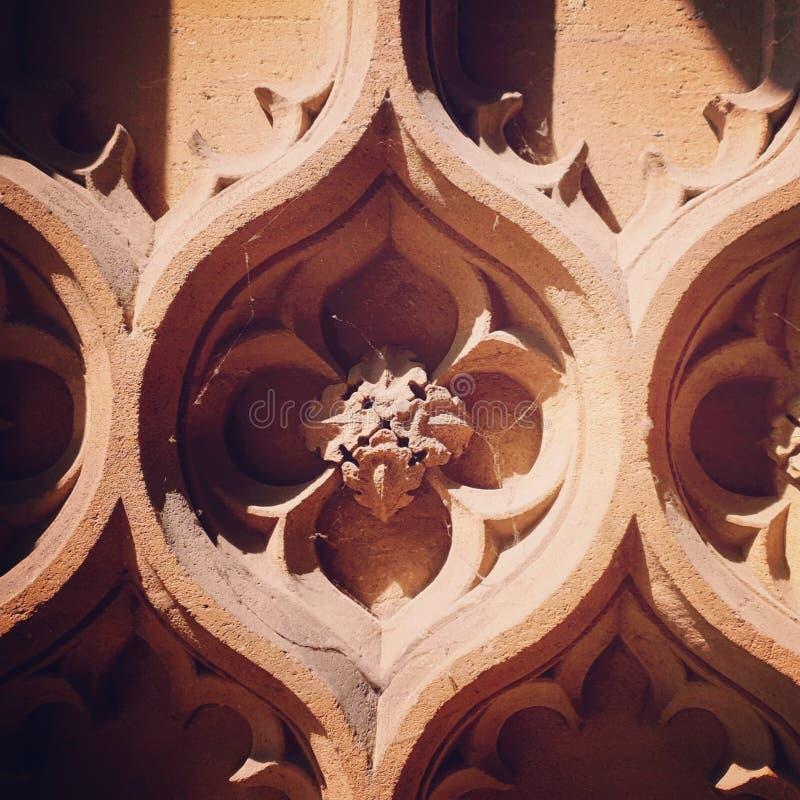 Plan rapproché gothique de détail d'église photo libre de droits