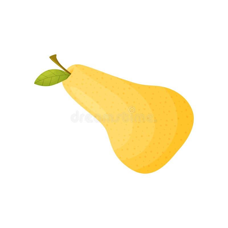 Plan rapproch? jaune de poire Illustration de vecteur sur le fond blanc illustration de vecteur