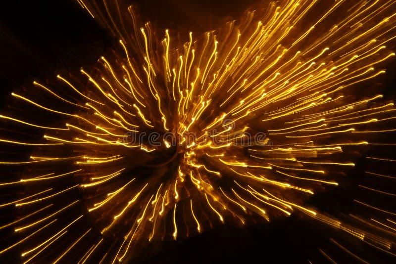 Plan rapproché lent abstrait de lumières de volet photographie stock