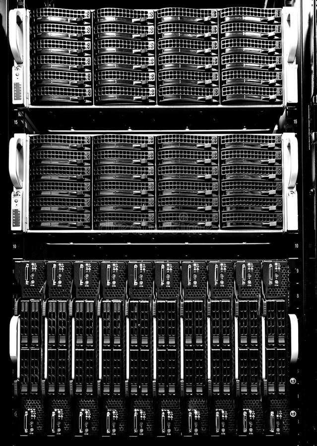 Plan rapproché moderne de vue de face de mémoire à disque d'unité de disque dur de série photo libre de droits