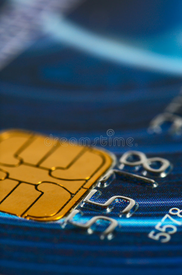 Plan rapproché par la carte de crédit de chiffres. photos stock