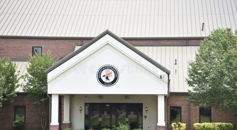 Plan rapproché préparatoire d'académie de liberté, Memphis, TN photo libre de droits