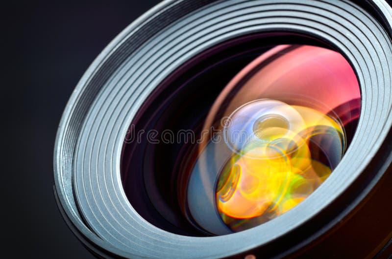 Plan rapproché professionnel de lentille de photo photos libres de droits