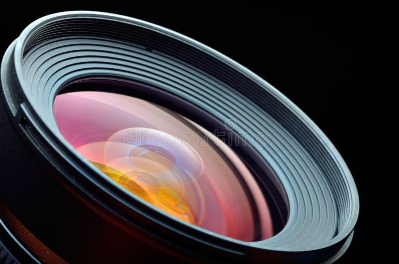 Plan rapproché professionnel de lentille de photo images libres de droits