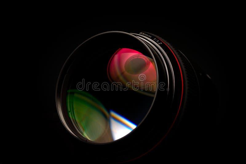 Plan rapproché professionnel de lentille de photo images stock