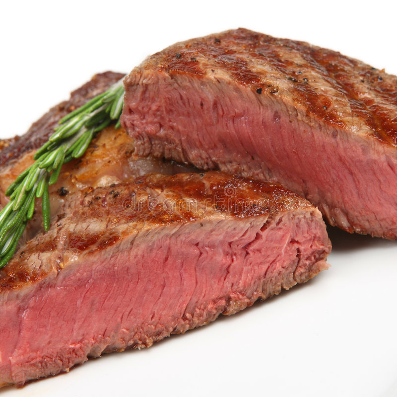 Plan rapproché rare de bifteck de Nervure-Oeil photographie stock