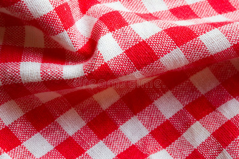 Plan Rapproché Rouge De Tissu De Pique-nique Images libres de droits