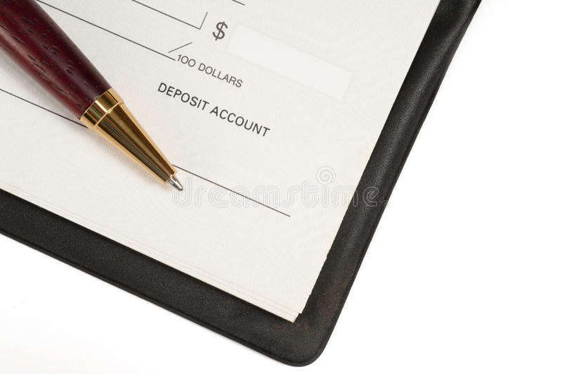 Livre de chèque non barré photos libres de droits