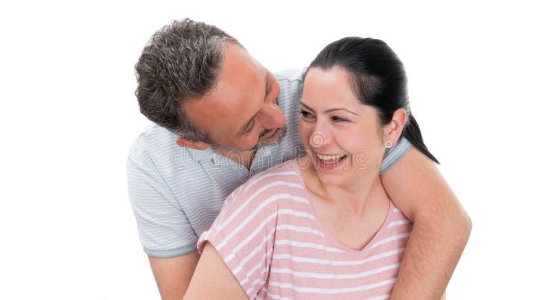 Plan rapproch? d'?treindre de couples image libre de droits