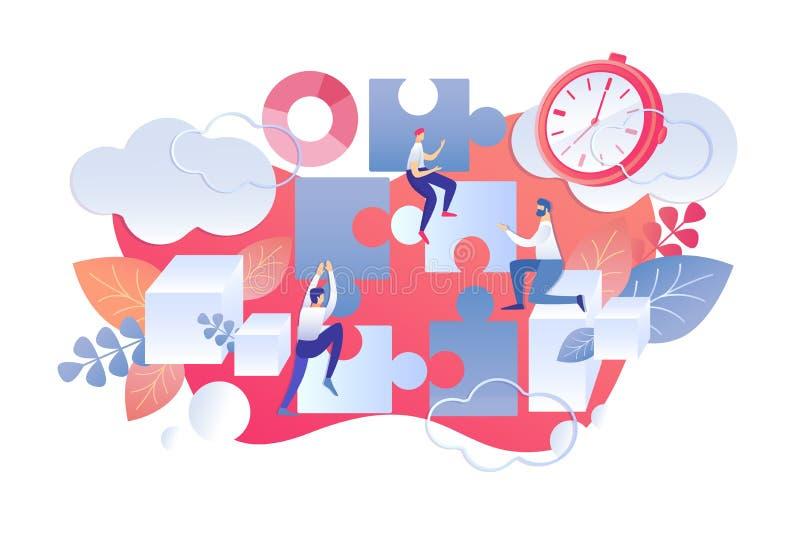 Plan regel för start för dag för illustrationTid ledning stock illustrationer