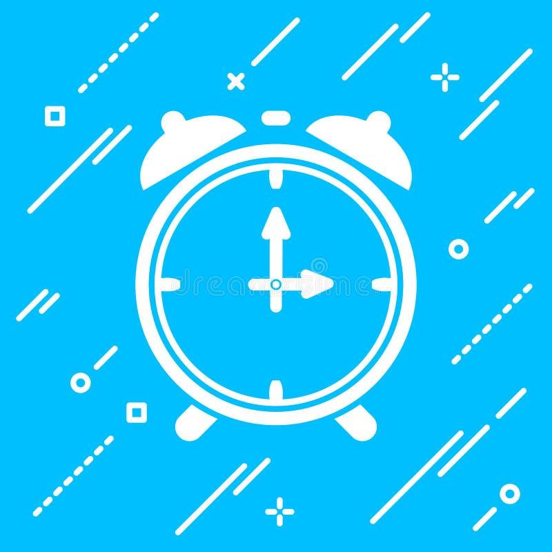plan ringklockasymbol på blå bakgrund stock illustrationer