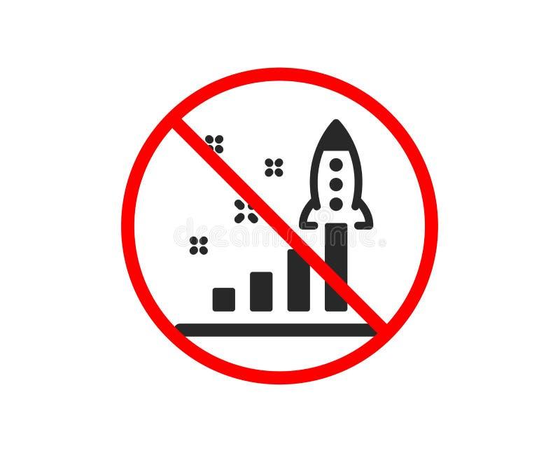 Plan rozwoju ikona Wodowanie biznesu Pocz?tkowy znak wektor ilustracja wektor