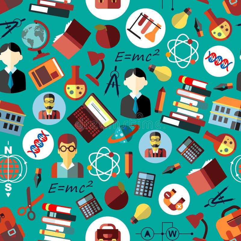 Plan sömlös modell för vetenskap och för utbildning stock illustrationer