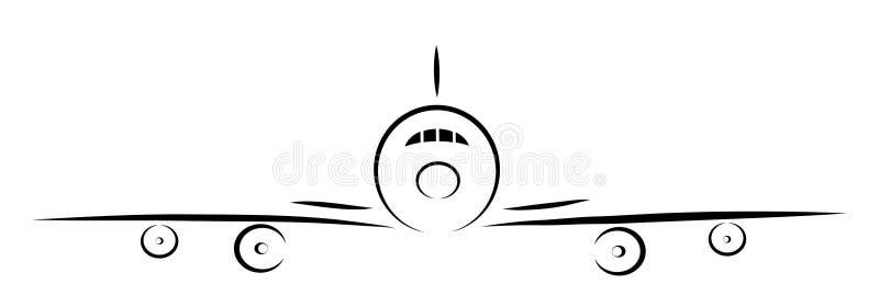 Plan silhouette vektor illustrationer