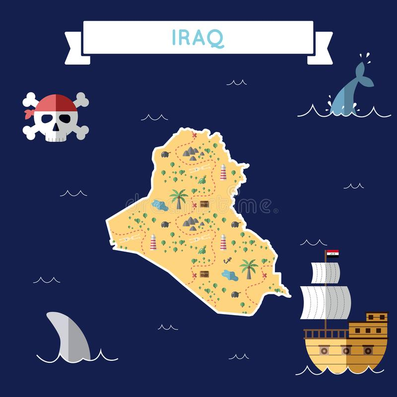 Plan skattöversikt av Irak vektor illustrationer