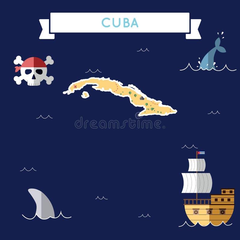 Plan skattöversikt av Kuban stock illustrationer