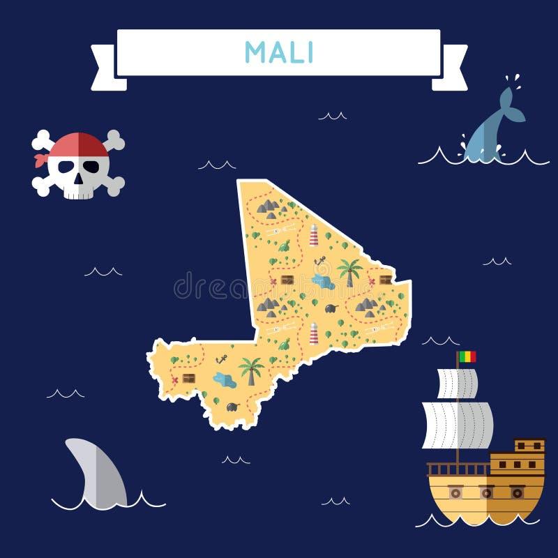 Plan skattöversikt av Mali stock illustrationer