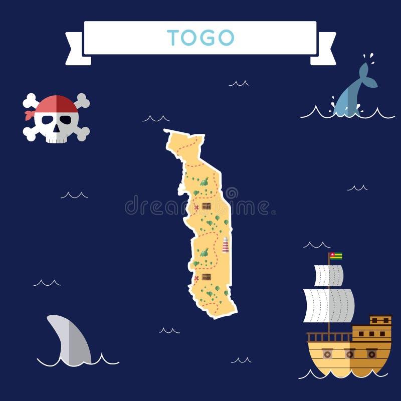 Plan skattöversikt av Togo royaltyfri illustrationer