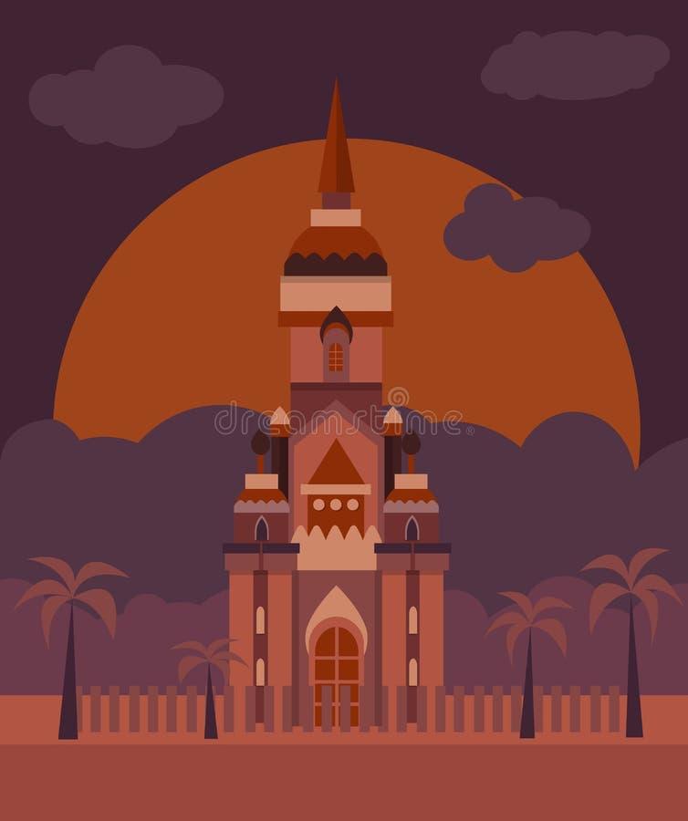 Plan slott för vektor royaltyfri illustrationer