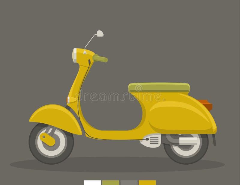Plan sparkcykel för guling stock illustrationer