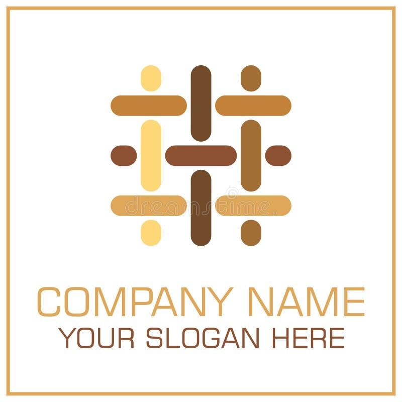 Plan stilvektor Logo Parquet/laminat för Durk Företag royaltyfri illustrationer