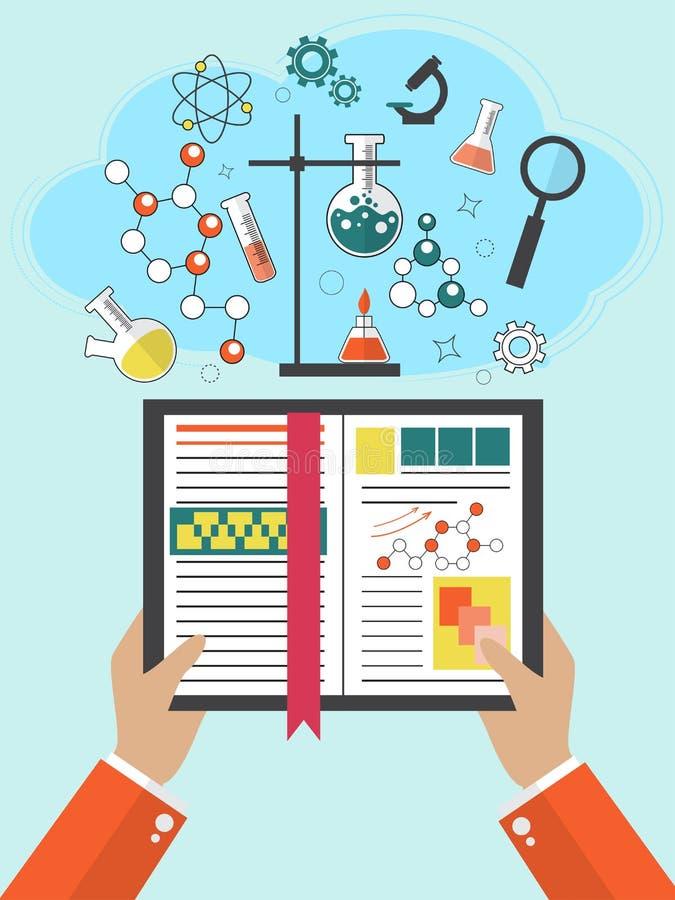 Plan studiebakgrund Rengöringsdukkurser och avståndsutbildning tillbaka skola till lärareuniversitet Kunskap intellekt vektor illustrationer