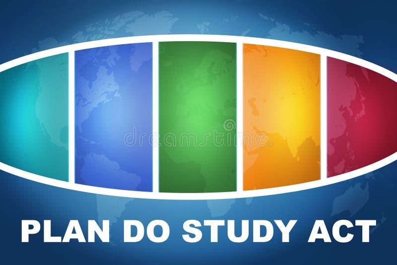Plan Studiuje akt ilustracja wektor