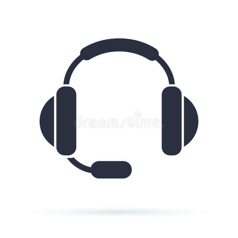 Plan symbol av service Underteckna appellmitten Tekniskt symbol för kontakt Appellen och vi ska svara till dig stock illustrationer