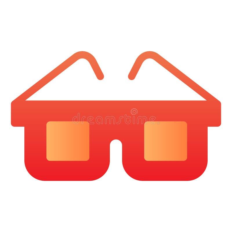 Plan symbol för anblickar Exponeringsglas färgar symboler i moderiktig plan stil Design för glasögonlutningstil som planlägg royaltyfri illustrationer