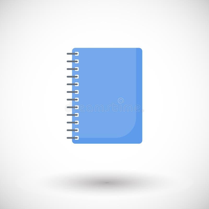 Plan symbol för anteckningsbok royaltyfri illustrationer
