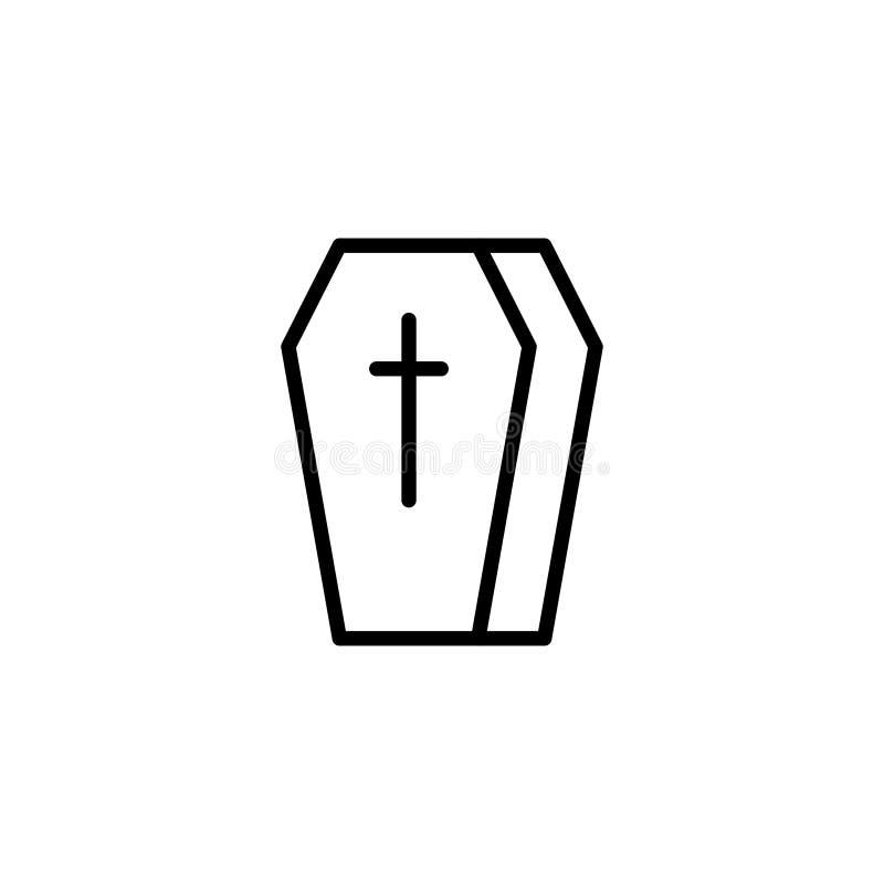 Plan symbol för begravning royaltyfri illustrationer